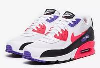 Buty damskie Nike Air Max 90 Essential White/Red Orbit-Psychic Purple AJ1285-106