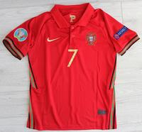 Dziecięcy zestaw piłkarski PORTUGALIA Home EURO 2020 (koszulka+spodenki+getry) #7 Ronaldo