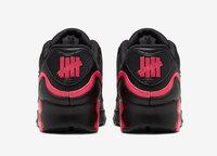 Buty męskie UNDEFEATED x Nike Air Max 90 CJ7197-003 Black/Solar Red