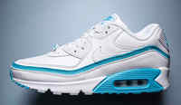 Buty męskie UNDEFEATED x Nike Air Max 90 CJ7197-102 White/Blue Fury